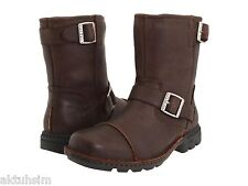 UGG Australia Brown Leather Biker Boot, Size 8, EU 40.5, NIB