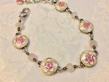 Brighton Spring Fever Bracelet 5 pink flowers and beads new
