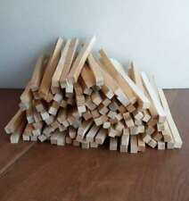 """Lot of 100 1/2"""" x 1/2"""" x 11"""" Wood Craft Boards White Cedar Short Square Dowels"""