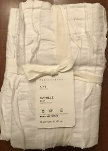 Pottery Barn Camile Sham, Size King, set of Two New W/ $39.50 each