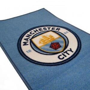 Manchester City FC Official Rug 80cm x 50cm Mat Bedroom Football Birthday Gift