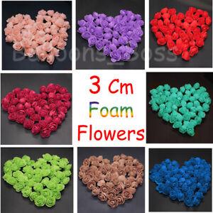 500 Foam Mini Roses WHOLESALE Heads Buds Small Flowers Wedding Home UK