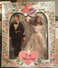 1983 Toy Time Barbie & Ken Clone Bride & Groom Dolls - MIB - Wedding