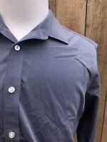 UNTUCKIT Bluish Gray Men's 100% Cotton Long Sleeves Shirt Size Large