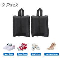 2X Portable Waterproof Travel Shoe Bag Zip View Window Pouch Storage Organizer