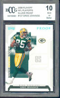 2006 playoff nfl playoffs silver proof #127 GREG JENNINGS rookie BGS BCCG 10