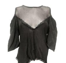 Wholesale Bulk Buy Women Cold Shoulder Tops Shirt Black Ladies Casual Blouse 20x