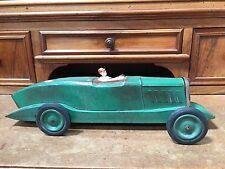Rare voiture en tôle ancienne Citroën ROSALIE verte 45 cm années 1930