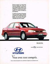 PUBLICITE ADVERTISING 025  1992  HUNDAI  LANTRA  GLS 1.6L