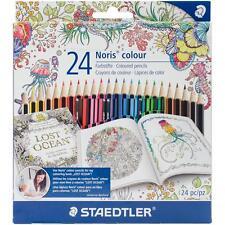 Colored Pencils Set 24 Colors Pencil Set Staedtler 185C24JB New