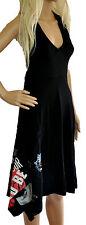 Desigual stunning black jersey summer dress NEW size XS