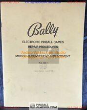 Bally Electronic Repair Module & Component - Pinball Manual