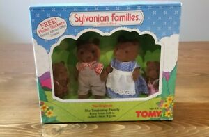 Vintage Sylvanian Families by Tomy -- The Timbertop Family / 1985 / MIB