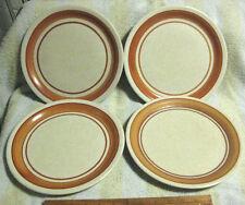 """7 VINTAGE SHENANGO STONEWARE RESTAURANTWARE AUTUMN BROWN DINNER PLATES 9-3/4"""""""