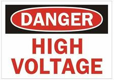 New listing Danger High Voltage Sign (with Double Sided Tape, White 3.5x5)(ref1820)
