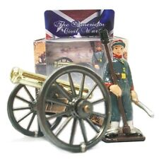 Civil War Toy Soldiers CONFEDERATE Artillery Set Hand Painted Metal  1/32  18692