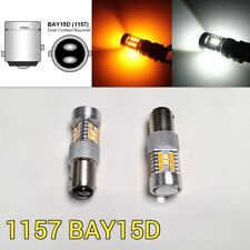 Brake Light 1157 3496 7528 BAY15D Amber + White Switchback SMD LED M1 MA