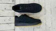Nike Air Force 1 Premium Ar0042-001 Suede Black Gum Bottom Youth Sz 6.5Y Wmn'S 8
