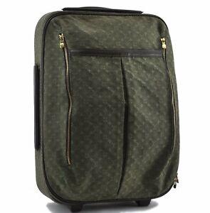 Louis Vuitton Monogram Mini Annette Travel Carry Hand Bag Green M23282 LV E1637