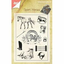Horse Horses Stamps Clear Unmounted Rubber Stamp Set Joy! Crafts 6410/0384 New