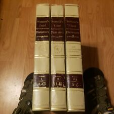 COMPLETE 3 VOLUME SET Websters Third New International Dictionary