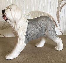 BESWICK DOG OLD ENGLISH SHEEPDOG WALKING GREY & WHITE MATT MODEL No. 3058 VGC