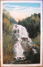 Nh Postcard Beaver Brook Falls Waterfall Colebrook New Hampshire White Border
