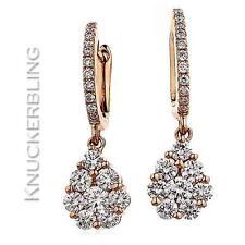 Drop/Dangle Rose Gold 18 Carat Fine Earrings