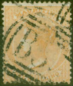 Mauritius 1863 1s Yellow SG68 Good Used