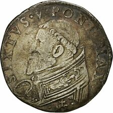 Monnaies, Vatican, Sisto V, Testone, Roma, TB+, Argent #481738