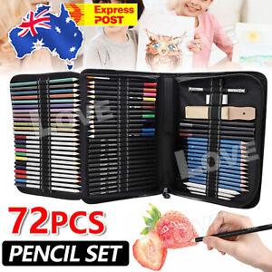 72pcs Drawing Sketch Set Charcoal Pencil Eraser Art Craft Painting Sketching Kit