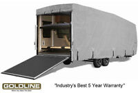 Goldline Premium RV Trailer Toy Hauler Cover Fits 28 to 30 Foot Grey