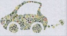 NEW Alessandra Adelaide Needleworks SMALL GREEN CAR Counted Cross Stitch Pattern