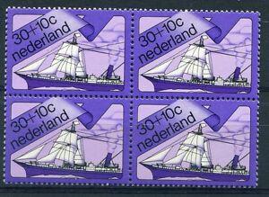 Nederland PLAATFOUT 1027 PM , blok van 4, postfris ;