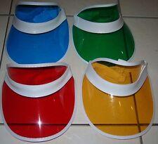 4 x POKER HATS / VISORS - 4 COLOURS UK SELLER