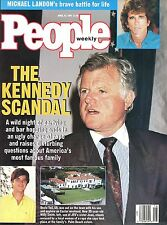 PEOPLE MAGAZINE April 1991- Kennedy Scandal - Michael Landon Fights For Life VG