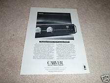 Carver TFM-35x Power Amp Ad from 1994, 1 page, Ready to Frame!