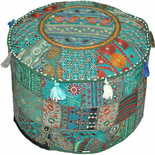 Indian Ethnic Patchwork HANDMADE Ottoman pouf cover chair pouf Pouffe Cover