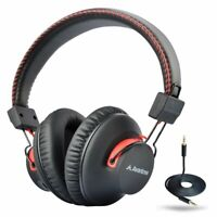 Avantree Audition Wireless Wired Bluetooth Over Ear Stereo Headphones with Mic