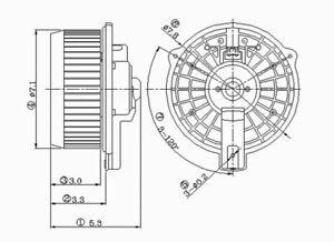 HVAC Blower Motor Front TYC 700003
