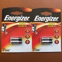 4X Energizer A27 12V Baterías 27A MN27 GP27A E27A EL812