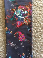 New LuLaRoe OS Paisley Neon Floral Leggings Bright Scroll Flowers On Charcoal