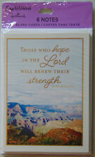 6 Christian Blank Note Cards, Greeting with Bible Scripture Verse by Hallmark