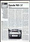 Porsche 911 S 2.7 Coupe Road Test 1974-75 UK Market Foldout Brochure Autocar