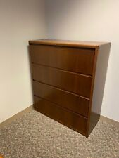 "4Dr 45""W Lateral file cabinet bySteelcase Office Furniture in Walnut finish wood"