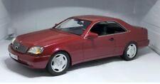 Mercedes-Benz 600SEC C140 rot met. 1992 1:18 Cult Scale Models
