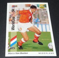 MARCO VAN BASTEN MILAN AC NEDERLAND FOOTBALL CARD UPPER DECK USA 94 PANINI 1994