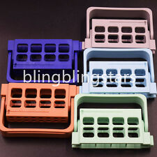 Dental 16 Holes Bur Endo Files Block Holder Stand Autoclave Disinfection Box