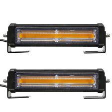 2*Yellow LED Car Flashing Strobe Light Bars Emergency Light w/ Remote Control#US