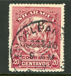 Nicaragua 1905 Waterlow  20¢ Carmine Lake New Orleans CDS Y97 ⭐☀⭐☀⭐